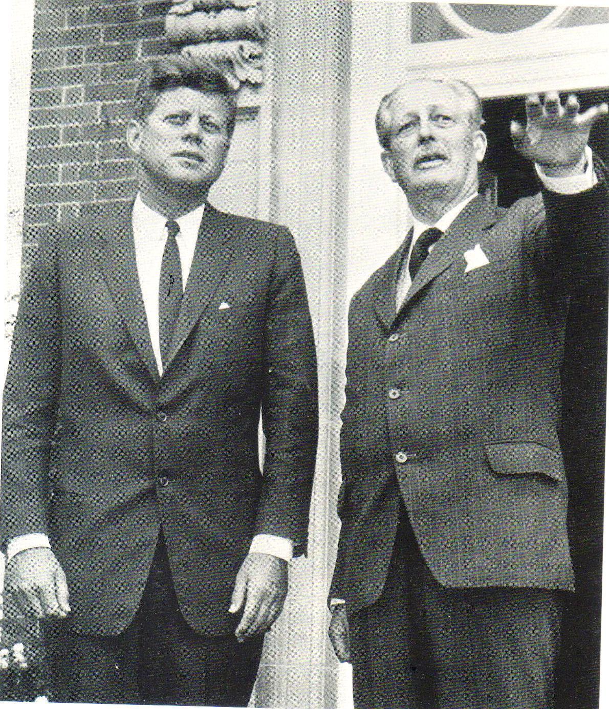 President Kennedy visits Premier Harold Macmillan's home in Horsted Keynes June 1963