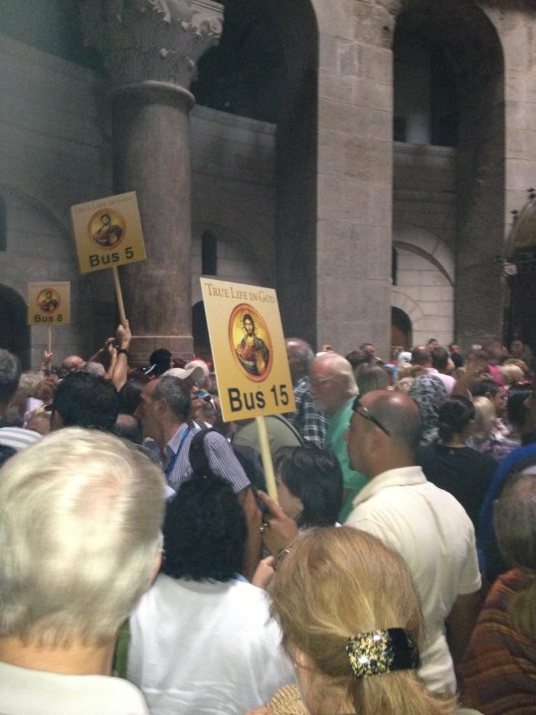 TLIG pilgrims at Holy Sepulchre Church